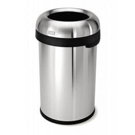 Kosz na śmieci z pedałem stalowy SIMPLEHUMAN BULLET OPEN SREBRNY 115 l Kosze na śmieci