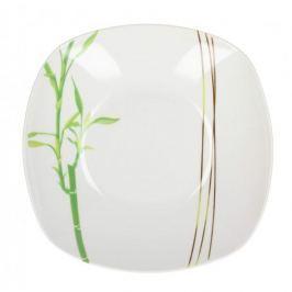 Talerz obiadowy głęboki ceramiczny BAMBUS BIAŁY 21 cm Talerze
