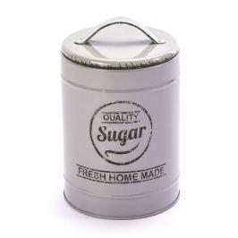 Pojemnik na cukier metalowy FLORINA QUALITY SUGAR SZARY 1,1 l Pojemniki kuchenne