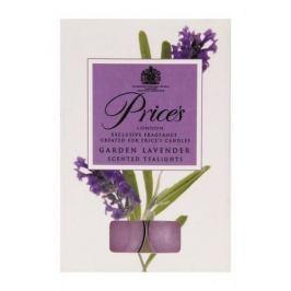 Świeczki zapachowe tealihgt woskowe PRICE'S CANDLES GARDEN LAVENDER FIOLETOWE 10 szt. Świeczki i świeczniki