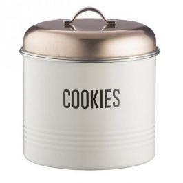 Puszka / Pojemnik na ciastka i pierniki ze stali nierdzewnej VINTAGE COOPER BIAŁY 3,3 l Pojemniki kuchenne