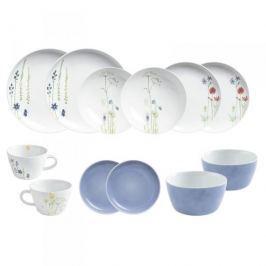 Serwis obiadowo - kawowy porcelanowy KAHLA FIVE SENSES WILDBLUME WIELOKOLOROWY na 2 osoby (12 el.)