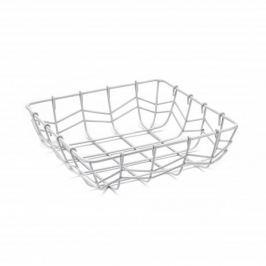Koszyk na owoce metalowy KWADRATOWY BIAŁY 25 x 25 cm