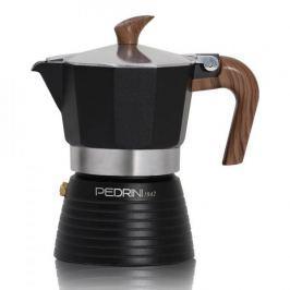 Kawiarka aluminiowa ciśnieniowa PEDRINI CELEBRATION CZARNA - kafetiera na 1 filiżankę espresso