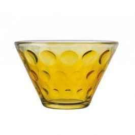 Miska / Salaterka szklana LEONARDO OPTIC ŻÓŁTA 0,4 l