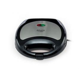 Toster / Opiekacz do kanapek elektryczny plastikowy ADLER CATOR CZARNY 750 W