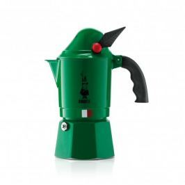 Kawiarka aluminiowa ciśnieniowa BIALETTI BREAK ALPINA CIEMNOZIELONA - kafetiera na 3 filiżanki espresso