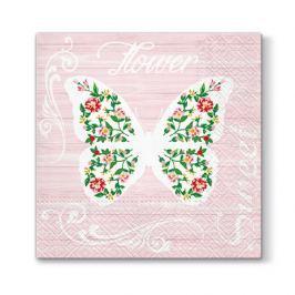 Serwetki papierowe dekoracyjne MOTYL RÓŻOWE 20 szt.