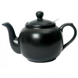 Dzbanek do herbaty ceramiczny z zaparzaczem LONDON POTTERY FARMHOUSE CZARNY 0,6 l