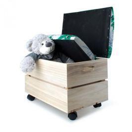 Skrzynie z siedziskiem na kółkach do przechowywania drewniane MONDEX JUNGLE 2 szt.