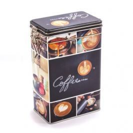 Puszka na kawę metalowa COFFEE PROSTOKĄTNA CZARNA 1,5 l