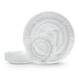Komplet talerzy deserowych szklanych PIATTO LIGHT na 6 osób (7 el.)