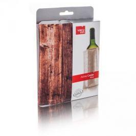 Schładzacz do wina plastikowy VACU VIN COOLER DREWNO BRĄZOWY