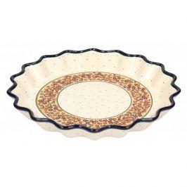 Forma do pieczenia tarty ceramiczna GU-1332 DEK. DU52 BOLESŁAWIEC 32 cm