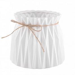 Wazon na kwiaty ceramiczny KAMA BIAŁY 15,5 cm