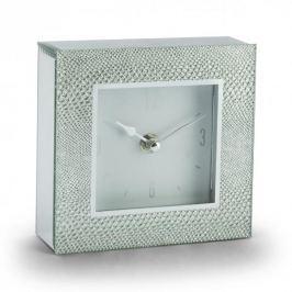 Zegarek stojący szklany DUO SILVER SNAKE SREBRNY