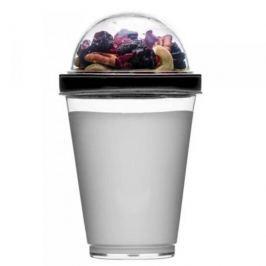 Pojemnik na jogurt i owoce plastikowy SAGAFORM FRESH CZARNY
