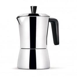 Kawiarka stalowa ciśnieniowa GIANNINI TUA BLACK - kafetiera na 6 filiżanek espresso