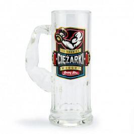 Kufel do piwa szklany OD TEGO SĄ CIĘŻARKI 500 ml
