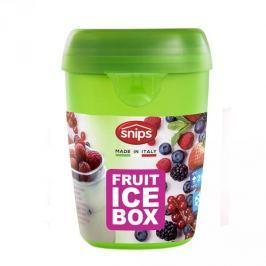Pojemnik na jogurt i owoce z wkładem chłodzącym i łyżeczką plastikowy SNIPS BOX ZIELONY