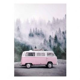 Obraz na płótnie MONDEX PINK BUS RÓŻOWY 50 x 70 cm