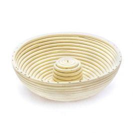 Koszyk do wyrastania chleba rattanowy OKRĄGŁY  Z DZIURKĄ 26,5 cm