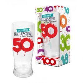 Szklanka do piwa BALONIKI 50-te URODZINY 600 ml