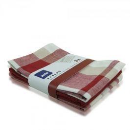 Ręczniki kuchenne bawełniane KELA PASADO RED WIELOKOLOROWE 65 x 45 cm 3 szt.