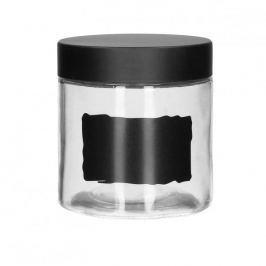 Pojemnik szklany na żywność z pokrywką i etykietą KREDA 0,8 l