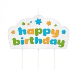 Świeczka urodzinowa na tort dla dzieci TESCOMA KIDS NIEBIESKA