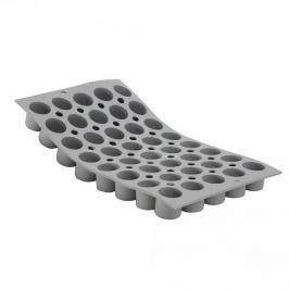 Forma do 40 czekoladek silikonowa DE BUYER CYLINDERS SZARA