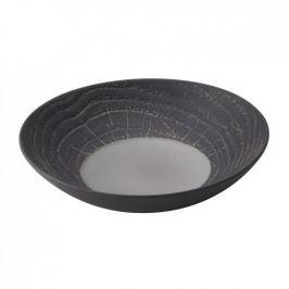 Talerz obiadowy głęboki porcelanowy REVOL ARBORESCENCE SZARY 16 cm