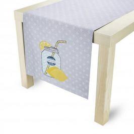 Bieżnik na stół bawełniany LENA SZARY 40 x 140 cm