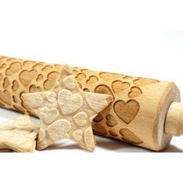 Wałek dekoracyjny do ciasta drewniany STODOLA SERCA