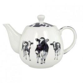 Dzbanek do herbaty i kawy z zaparzaczem porcelanowy ASHDENE DAIRY BELLES BIAŁY 0,6 l