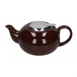 Dzbanek do herbaty i kawy ceramiczny z zaparzaczem BRĄZOWY 0,7 l