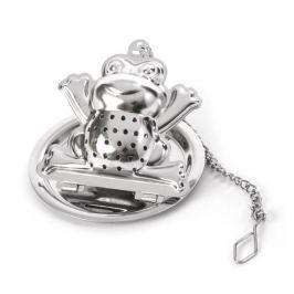 Zaparzacz do herbaty stalowy z podstawkiem FROG