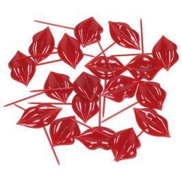 Wykałaczki / Patyczki do koreczków plastikowe FRED AND FRIENDS RED LIPS 17 szt.