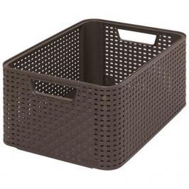 Koszyk plastikowy CURVER STYLE M BRĄZOWY