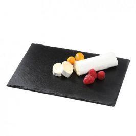 Deska do serwowania serów i przekąsek kamienna CILIO FORMAGGIO CZARNA 30 x 20 cm