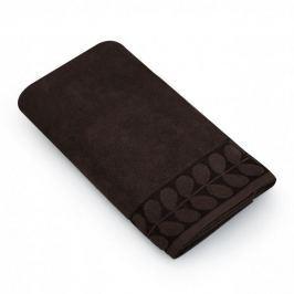 Ręcznik kąpielowy bawełniany MISS LUCY ORNELA BRĄZOWY 70 x 140 cm