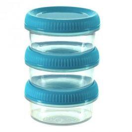 Pojemniki na żywność plastikowe CURVER SMART TO GO NIEBIESKIE 0,08 l 3 szt.