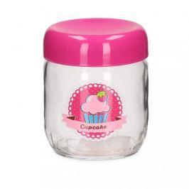 Słoik ozdobny szklany CUPCAKE PINK 0,4 l
