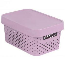 Koszyk z pokrywką ażurowy plastikowy CURVER INFINITY RÓŻOWY 4,5 l