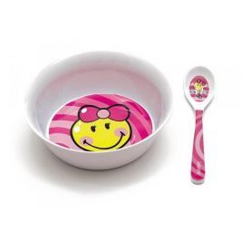 Naczynia dla dzieci plastikowe ZAK SMILEY KID RÓŻOWY 2 szt.