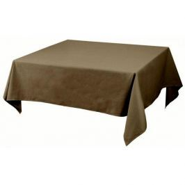 Obrus na stół bawełniany AMBITION NATURE BROWN 148 x 133 cm