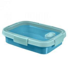 Pojemnik na żywność plastikowy CURVER SMART TO GO PROSTOKĄTNY NIEBIESKI 0,7 l