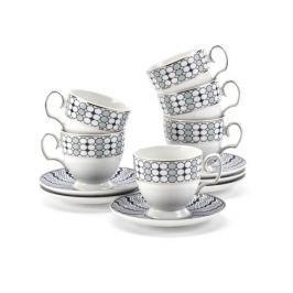 Serwis kawowy porcelanowy MARIAPAULA KANTATA BIAŁY na 6 osób (12 el.)