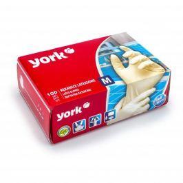 Rękawiczki lateksowe YORK HOME BIAŁE M 100 szt.