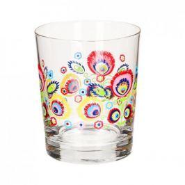 Szklanki do napojów szklane KROSNO DECOLINE ŁOWICKI WZÓR WIELOKOLOROWE 6 szt. 250 ml